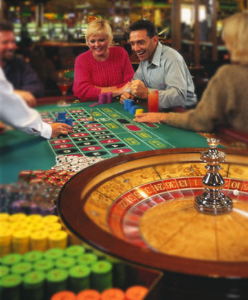 A couple enjoying roulette at a land-based casino